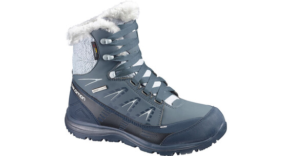 Salomon Kaina Mid CS WP W's Grey Denim/Deep Blue/Cane